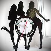 Часы классические ручной работы. Ярмарка Мастеров - ручная работа Настенные часы Pole Dance. Handmade.