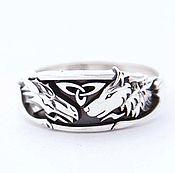 Украшения handmade. Livemaster - original item Ring with a dragon and a wolf. Handmade.