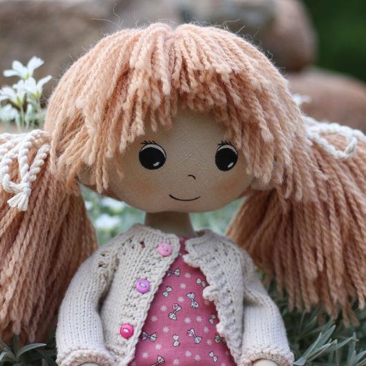Коллекционные куклы ручной работы. Ярмарка Мастеров - ручная работа. Купить Полина текстильная кукла. Handmade. Розовый, текстильная кукла