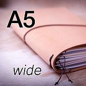 Канцелярские товары handmade. Livemaster - original item notebooks: Travelers Notebook - A5 size  (Wide). Handmade.