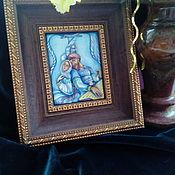 Картины и панно handmade. Livemaster - original item Painting on enamel. Based on the works of K. Vasiliev. Handmade.