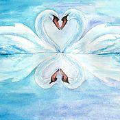 Картины и панно handmade. Livemaster - original item Swan fidelity. Handmade.