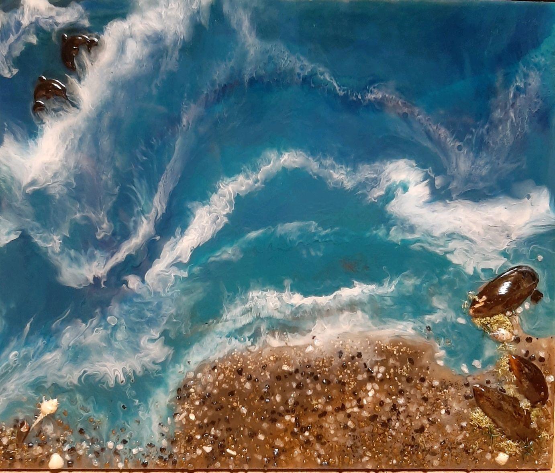 """Картина """"Морской пейзаж"""" из эпоксидной смолы, Картины, Москва,  Фото №1"""