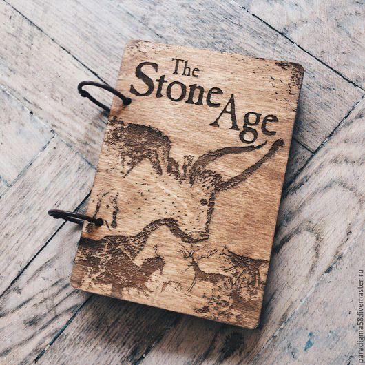 """Ежедневники ручной работы. Ярмарка Мастеров - ручная работа. Купить Скетчбук А6 """"Stone Age"""". Handmade. Скетчбук, блокнот"""