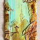 Город ручной работы. Ярмарка Мастеров - ручная работа. Купить Старая Рига(3). Handmade. Акрил, работа в объеме, маленькая картина