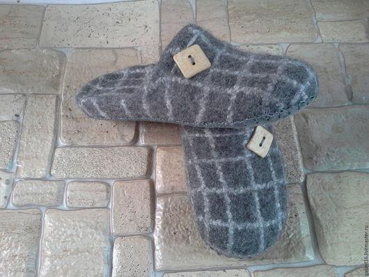 """Обувь ручной работы. Ярмарка Мастеров - ручная работа. Купить """"Шерлок"""" Валяные тапки. Handmade. Мужские тапки, эко дом"""