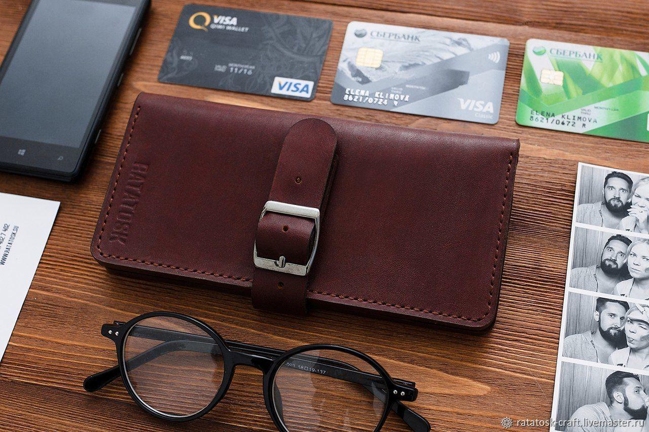 Wallets & Business Card Holders handmade. Livemaster - handmade. Buy Women's wallet LISBON.Brown