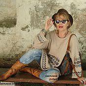 """Одежда ручной работы. Ярмарка Мастеров - ручная работа """"Сабрина"""" вязаная авторская туника в стиле ЭТНО. Handmade."""