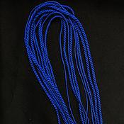 Украшения handmade. Livemaster - original item Gaitan silk cord Sapphire Sapphire without lock 60 cm. Handmade.