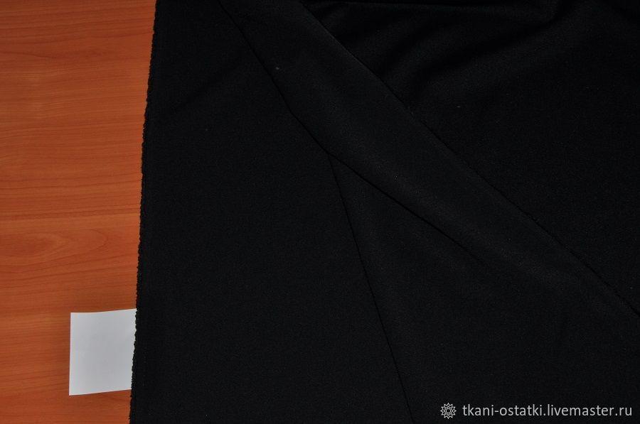 Креп искусственный черный, Италия, Ткани, Москва,  Фото №1
