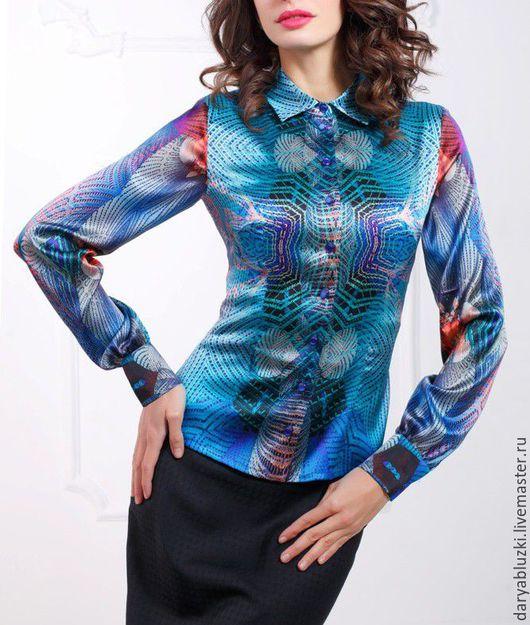 """Блузки ручной работы. Ярмарка Мастеров - ручная работа. Купить Блузка шелковая """"Яркая палитра"""". Handmade. Купить блузку, шелк"""