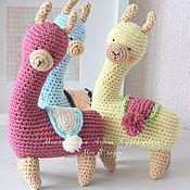 Мягкие игрушки ручной работы. Ярмарка Мастеров - ручная работа Лама - Альпака Вязаные игрушки. Handmade.