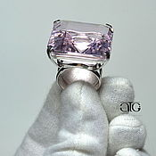 Украшения handmade. Livemaster - original item Ring with pink Topaz. 925 sterling silver.. Handmade.