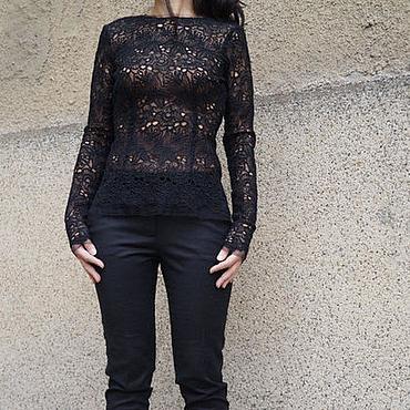 Одежда ручной работы. Ярмарка Мастеров - ручная работа Экстравагантная блузка / стильная рубашка /F1536. Handmade.