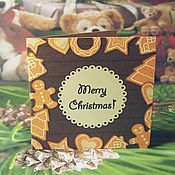 Открытки ручной работы. Ярмарка Мастеров - ручная работа Открытка на новый год открытка на рождество  открытка на заказ. Handmade.