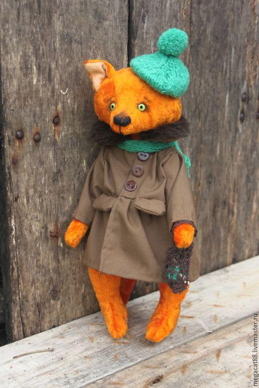 Мишки Тедди ручной работы. Ярмарка Мастеров - ручная работа. Купить Тедди лиса Алиса. Handmade. Оранжевый, оранжево зеленый