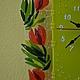 """Часы для дома ручной работы. Часы настенные из стекла """"Весенние тюльпаны"""". Фьюзинг.. Мастерская 'MagicGlass'. Фьюзинг. Интернет-магазин Ярмарка Мастеров."""