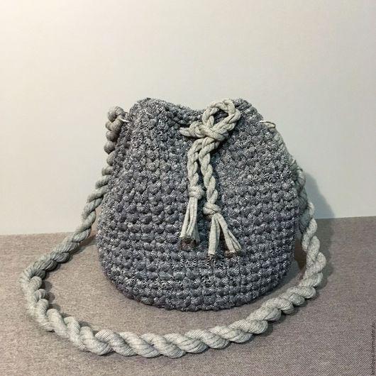 Женские сумки ручной работы. Ярмарка Мастеров - ручная работа. Купить Серая сумка. Handmade. Чёрно-белый, серый