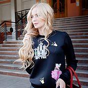 """Одежда ручной работы. Ярмарка Мастеров - ручная работа Дизайнерский свитшот с вышивкой """"Мечта принцессы"""". Handmade."""
