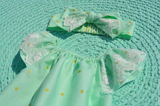 Одежда для девочек, ручной работы. Ярмарка Мастеров - ручная работа. Купить Песочник с кружевными крылышками. Handmade. Мятный, одежда для детей