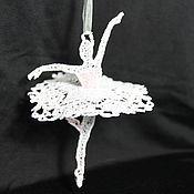 Подарки к праздникам ручной работы. Ярмарка Мастеров - ручная работа балерина на новогоднюю елку. Handmade.