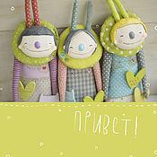 Куклы и игрушки ручной работы. Ярмарка Мастеров - ручная работа малышки/зайки путешественники. Handmade.
