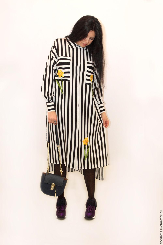 Дизайнерское платье-рубашка Нарцисс, Платья, Ижевск, Фото №1