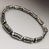 Фен-шуй и эзотерика handmade. Livemaster - original item Bracelet with the rune Fehu, silver handmade. Handmade.