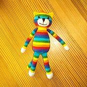 Мягкие игрушки ручной работы. Ярмарка Мастеров - ручная работа Радужный котик. Handmade.