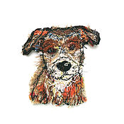 Материалы для творчества handmade. Livemaster - original item Author stripe (applique) handmade Good dog 7h5 cm. Handmade.