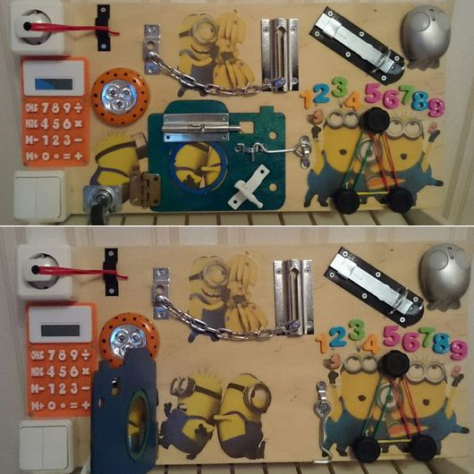 Развивающие игрушки ручной работы. Ярмарка Мастеров - ручная работа. Купить Бизиборд (развивающая доска) для детей. Handmade. Бизиборд