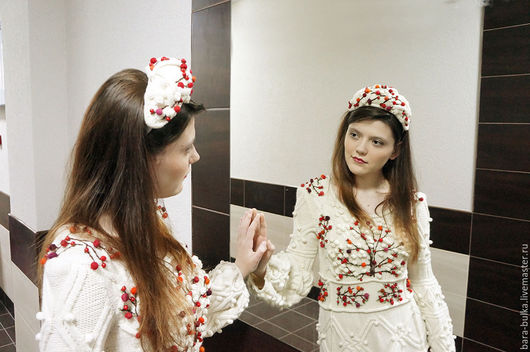 """Платья ручной работы. Ярмарка Мастеров - ручная работа. Купить платье вязаное шишками и аранами """"Райские яблочки"""". Handmade."""