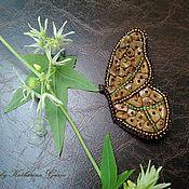 Украшения ручной работы. Ярмарка Мастеров - ручная работа Крупная брошь бабочка из бисера. Handmade.