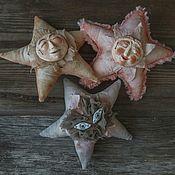 Чердачная кукла ручной работы. Ярмарка Мастеров - ручная работа Звездочки: розовая, сиреневая и коричневая. Handmade.