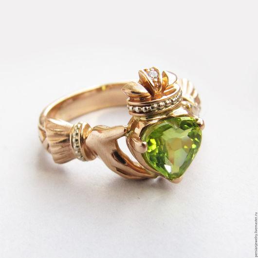 Кольца ручной работы. Ярмарка Мастеров - ручная работа. Купить Кладдахское кольцо из красного золота. Handmade. Золотой, кольцо с сердцем