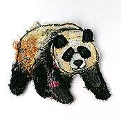 Материалы для творчества handmade. Livemaster - original item Author stripe (applique) handmade Panda. Handmade.