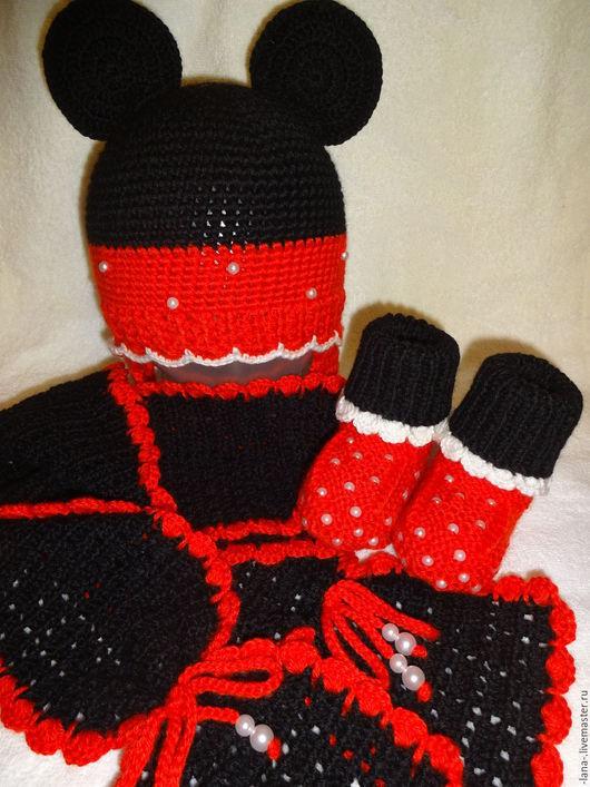 """Одежда для девочек, ручной работы. Ярмарка Мастеров - ручная работа. Купить Комплект """"Мультяшка"""". Handmade. Комбинированный, вязание спицами"""