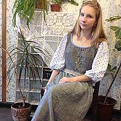 Одежда ручной работы. Ярмарка Мастеров - ручная работа Льняное платье Марианна. Handmade.