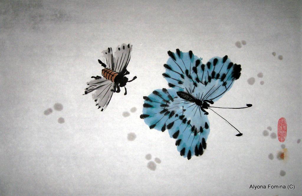 Голубая бабочка, Картины, Санкт-Петербург, Фото №1