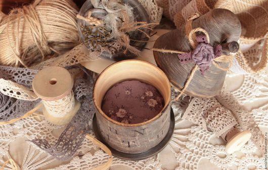 """Персональные подарки ручной работы. Ярмарка Мастеров - ручная работа. Купить Игольница """"Волшебный домик"""". Handmade. Серо-коричневый"""