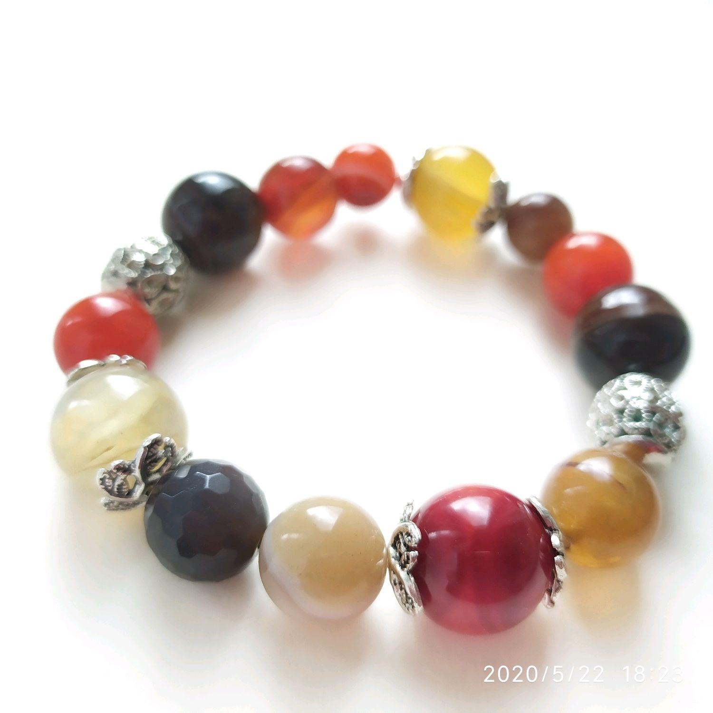 Bracelet agate, Bead bracelet, Permian,  Фото №1