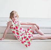 Работы для детей, ручной работы. Ярмарка Мастеров - ручная работа Платье с арбузами. Handmade.
