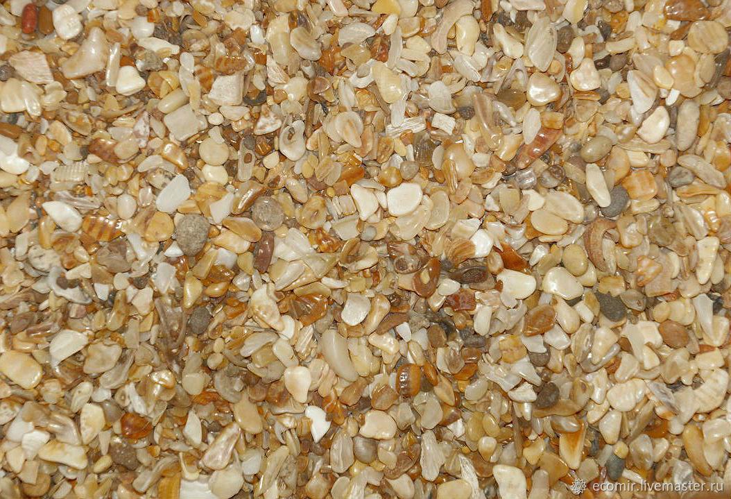 Ракушечный песок морской для декора натуральный 1кг, Песок, Анапа,  Фото №1