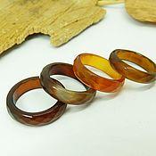Украшения handmade. Livemaster - original item Ring of brown-red agate 17 R-R with cut. Handmade.