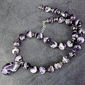 Украшения handmade. Livemaster - original item Amethyst Madagascar Natural Necklace with a pendant. Handmade.