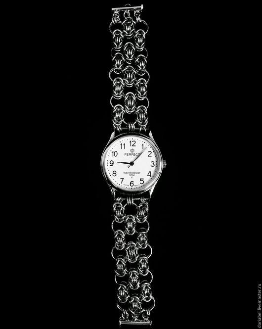 Часы ручной работы. Ярмарка Мастеров - ручная работа. Купить Браслет для часов. Handmade. Часы, chainmaille, медь, медная проволока