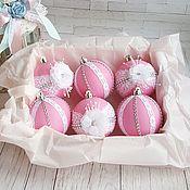 Подарки к праздникам ручной работы. Ярмарка Мастеров - ручная работа Елочные шарики. Handmade.