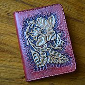 Сумки и аксессуары handmade. Livemaster - original item Passport cover genuine leather. Handmade.
