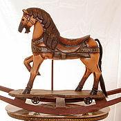 Винтаж ручной работы. Ярмарка Мастеров - ручная работа Карусельная лошадка качалка большая Новая жизнь деревянная ностальгия. Handmade.