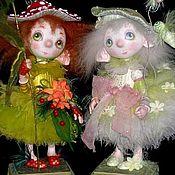 Куклы и игрушки ручной работы. Ярмарка Мастеров - ручная работа куклы Очень яркий Мухоморчик и очень бледная Поганочка. Handmade.